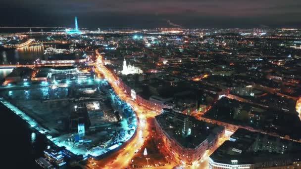 Letecký pohled do Nevského vyhlídky, Petrohrad, Rusko