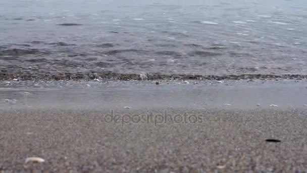 Wellen und Meer Ufer Nahaufnahme