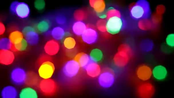 Blikající barevné girlandy rozmazaný efekt, plnoformátový
