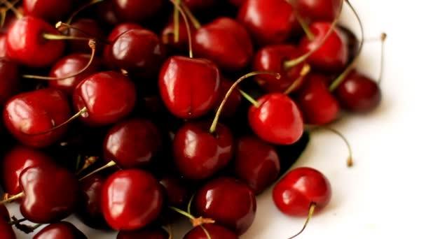 Heap of ripe sweet cherry