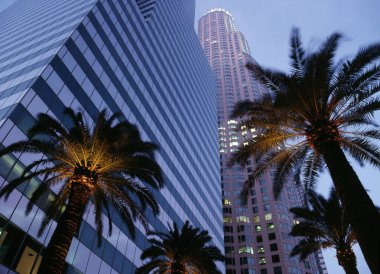 Office buildings in downtown Los Angeles in California, USA