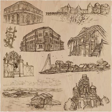 architecture - an hand drawn vector pack