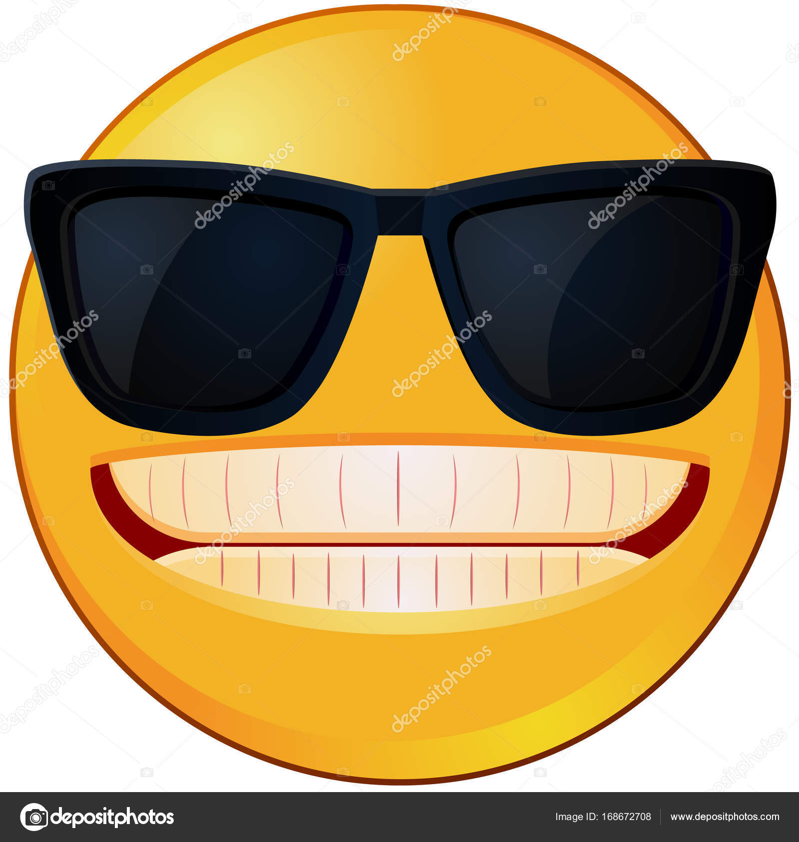 Cool emoji with shades vector stock vector webstocker 168672708 cool emoji with shades vector stock vector biocorpaavc Images