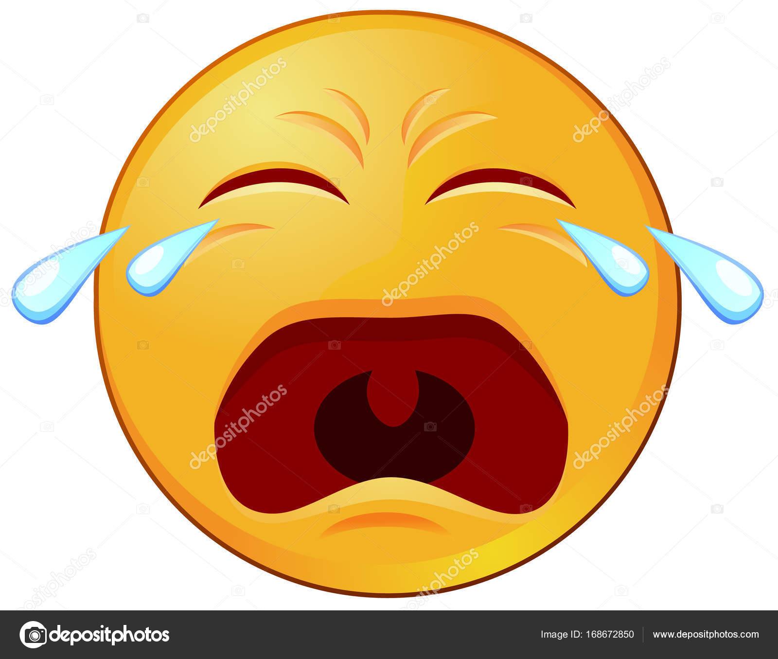 Icône De Vecteur Emoji Ou émoticône Qui Pleure Image Vectorielle