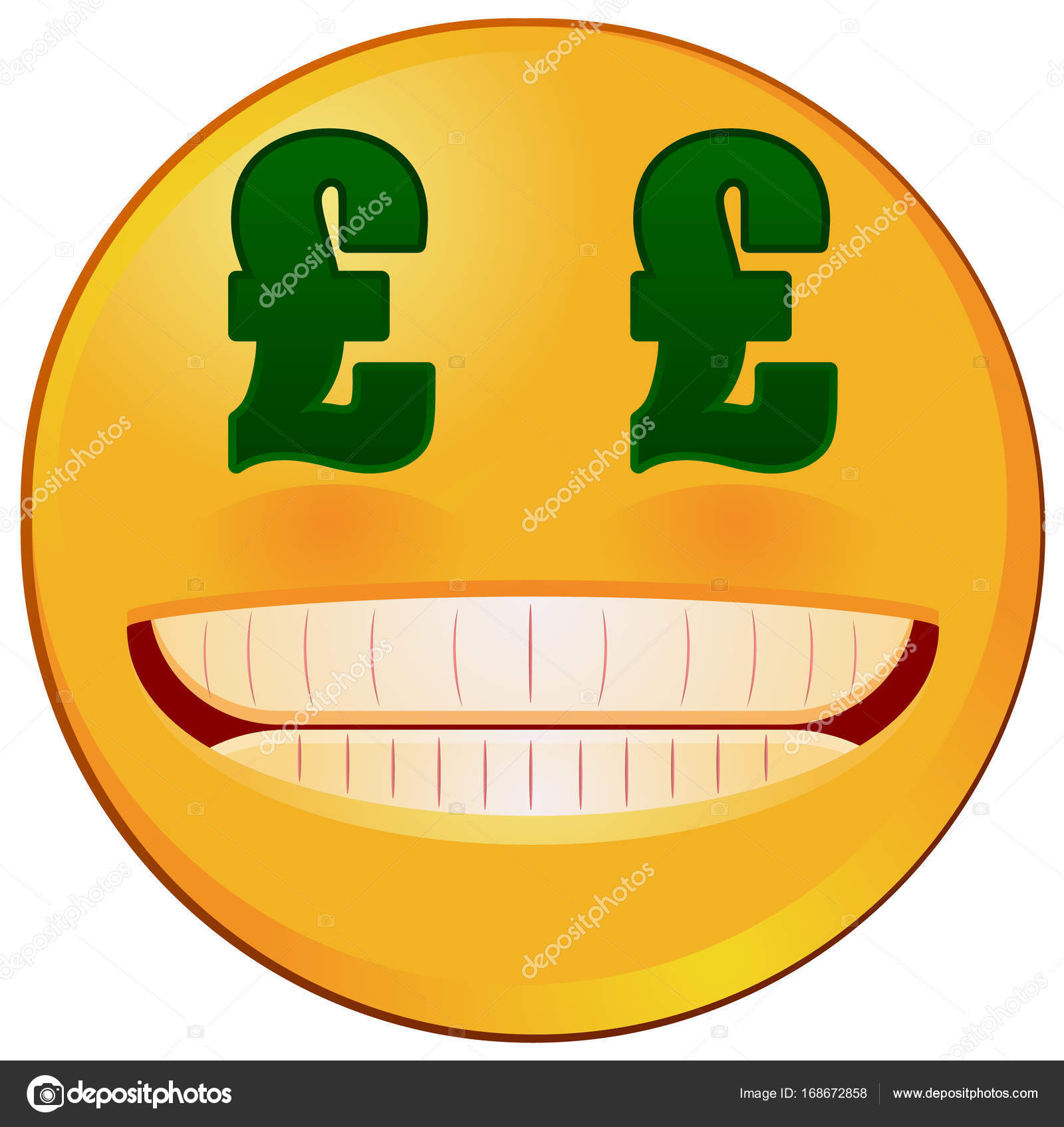 Emoji with british pound sterling sign eyes vector stock vector vector illustration of an emoji or emoticon with eyes of british pound or sterling currency symbol vector by webstocker biocorpaavc Gallery