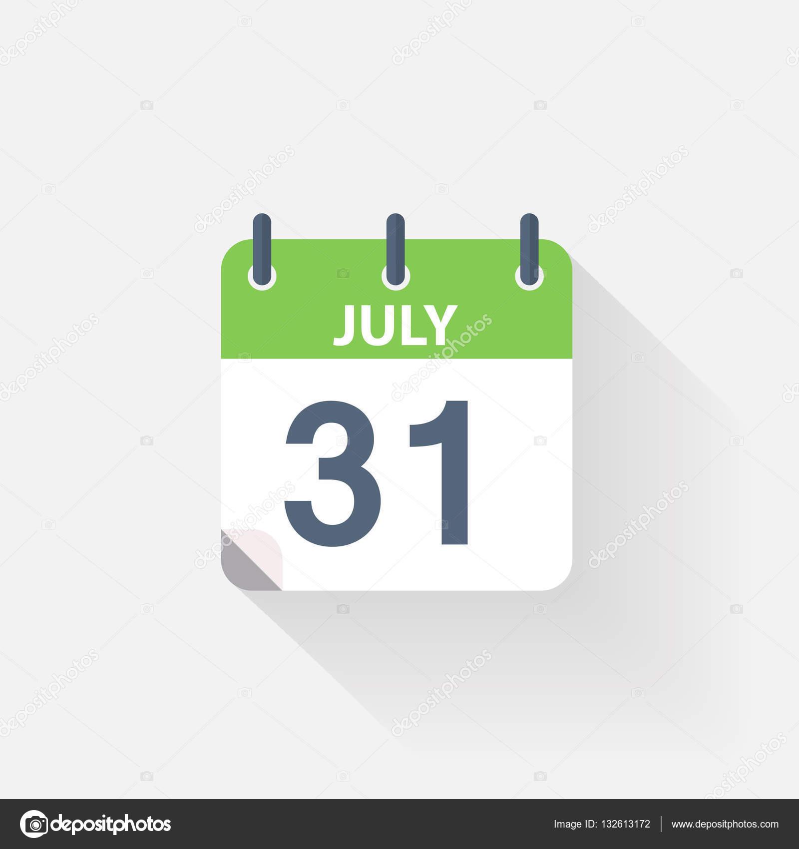 Calendario 31 Luglio.Icona Del Calendario 31 Luglio Vettoriali Stock C Skarin1
