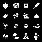 Sada vektorové ikony bílé drogy