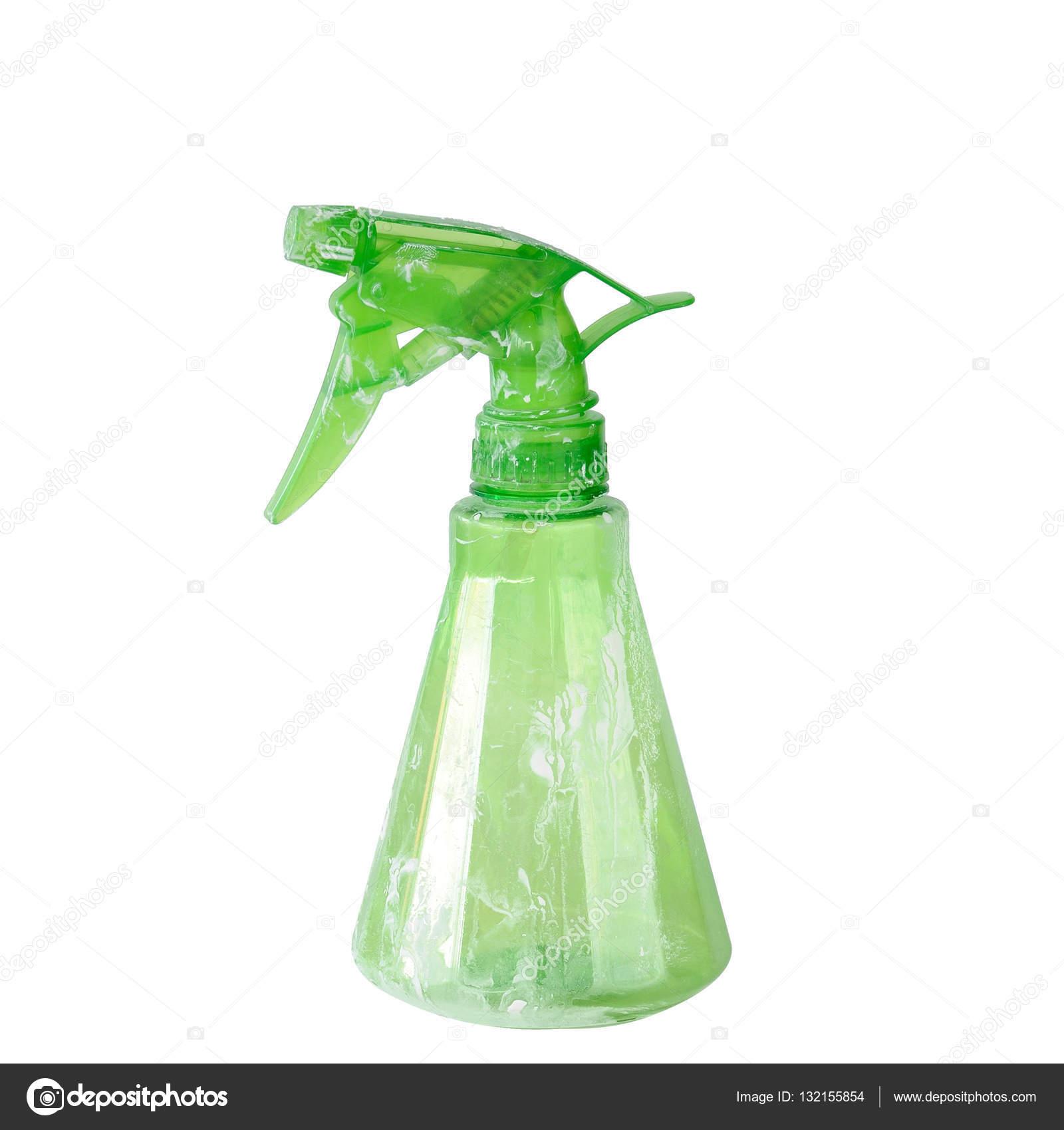 Zelena Voda Sprej Na Bilem Pozadi Orezove Cesty Zahrnute Stock