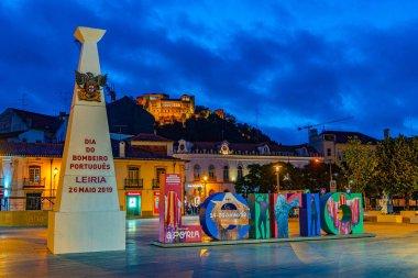 LEIRIA, PORTUGAL, MAY 27, 2019: Leiria castle overlooking Leiria