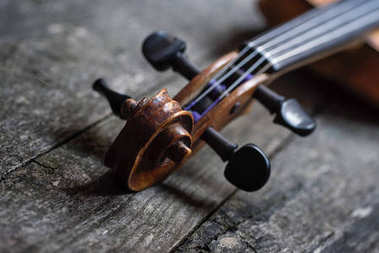 Part of the violin