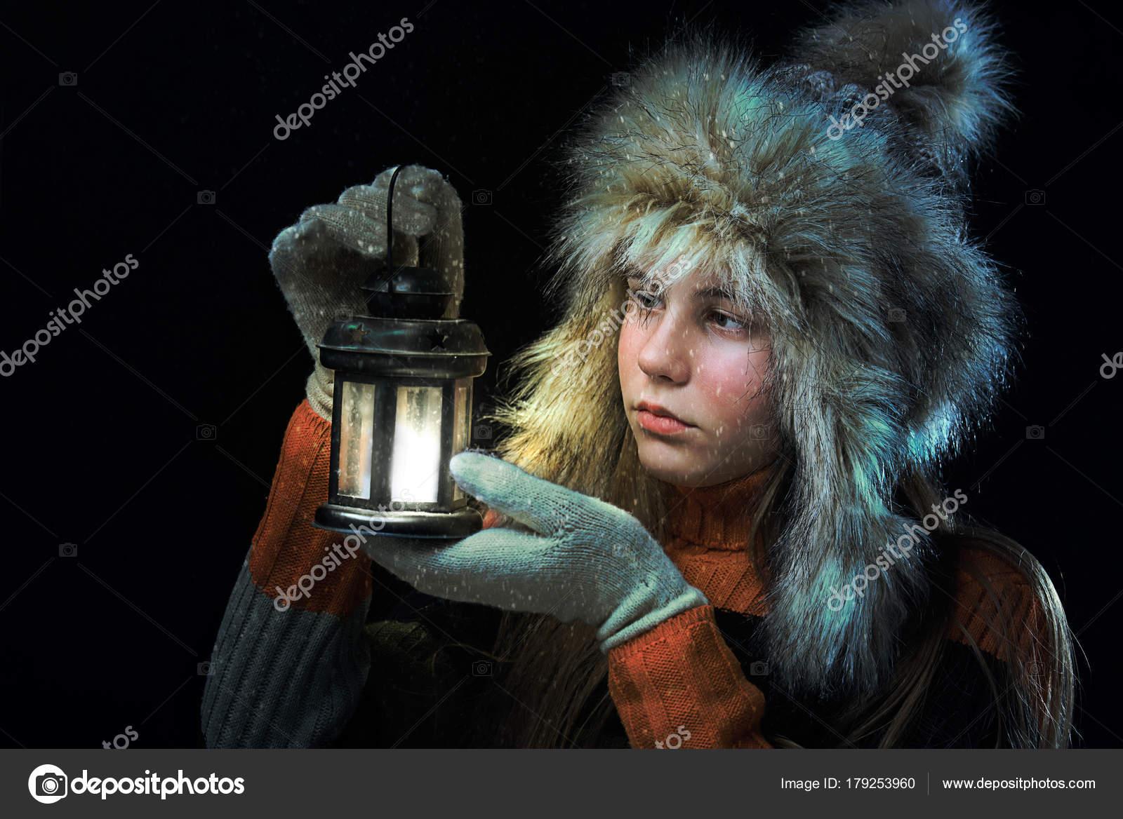 Sad girl with a lamp — Stock Photo © baronb #179253960 for Sad Girl With Lamp  103wja