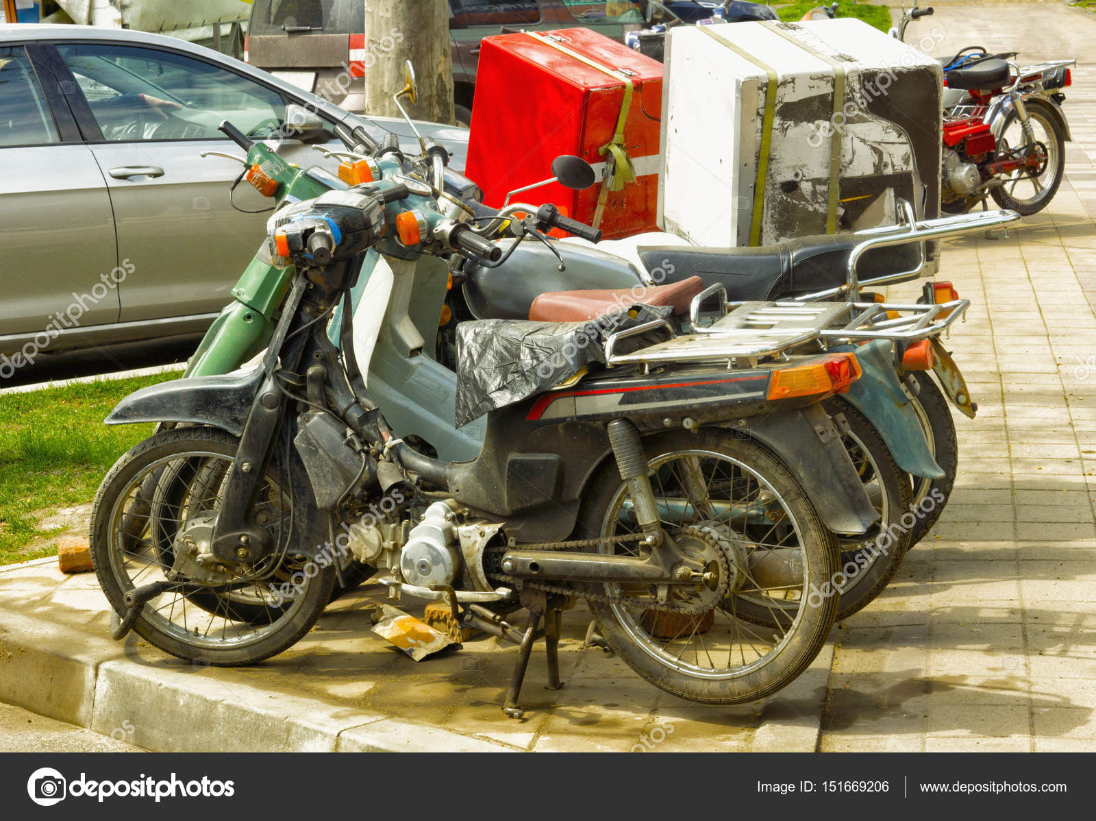 Parking old vehicles in the city — Stock Photo © bodu10 #151669206