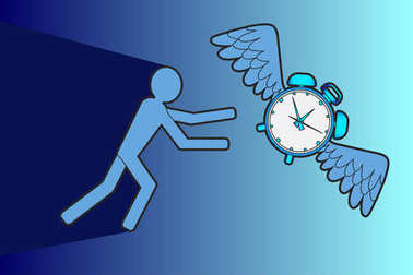 People trying to catch time illustration