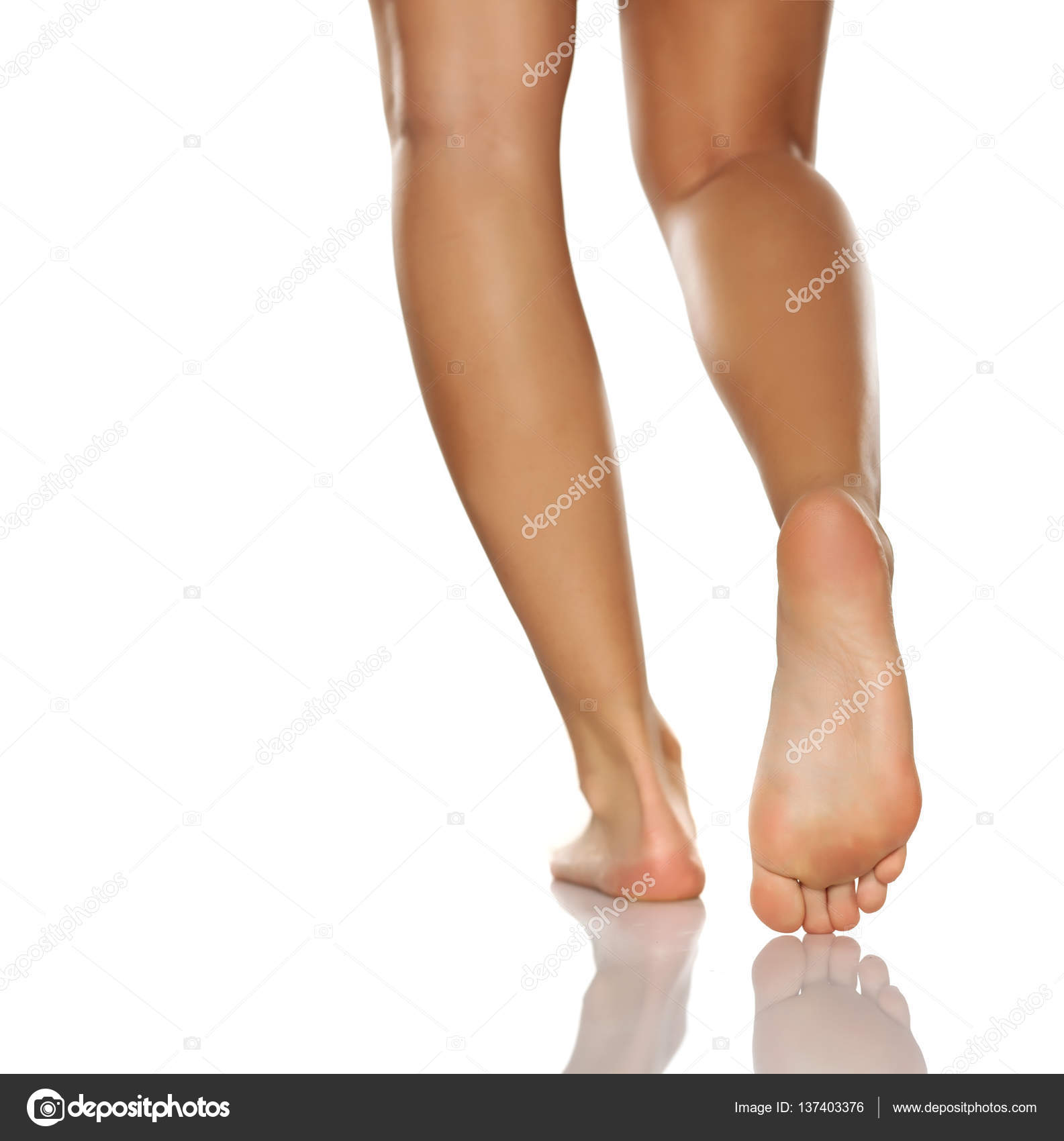 Womens Legs And Feet On White Background Stock Photo Vgeorgiev
