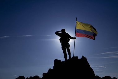 conqueror with a flag