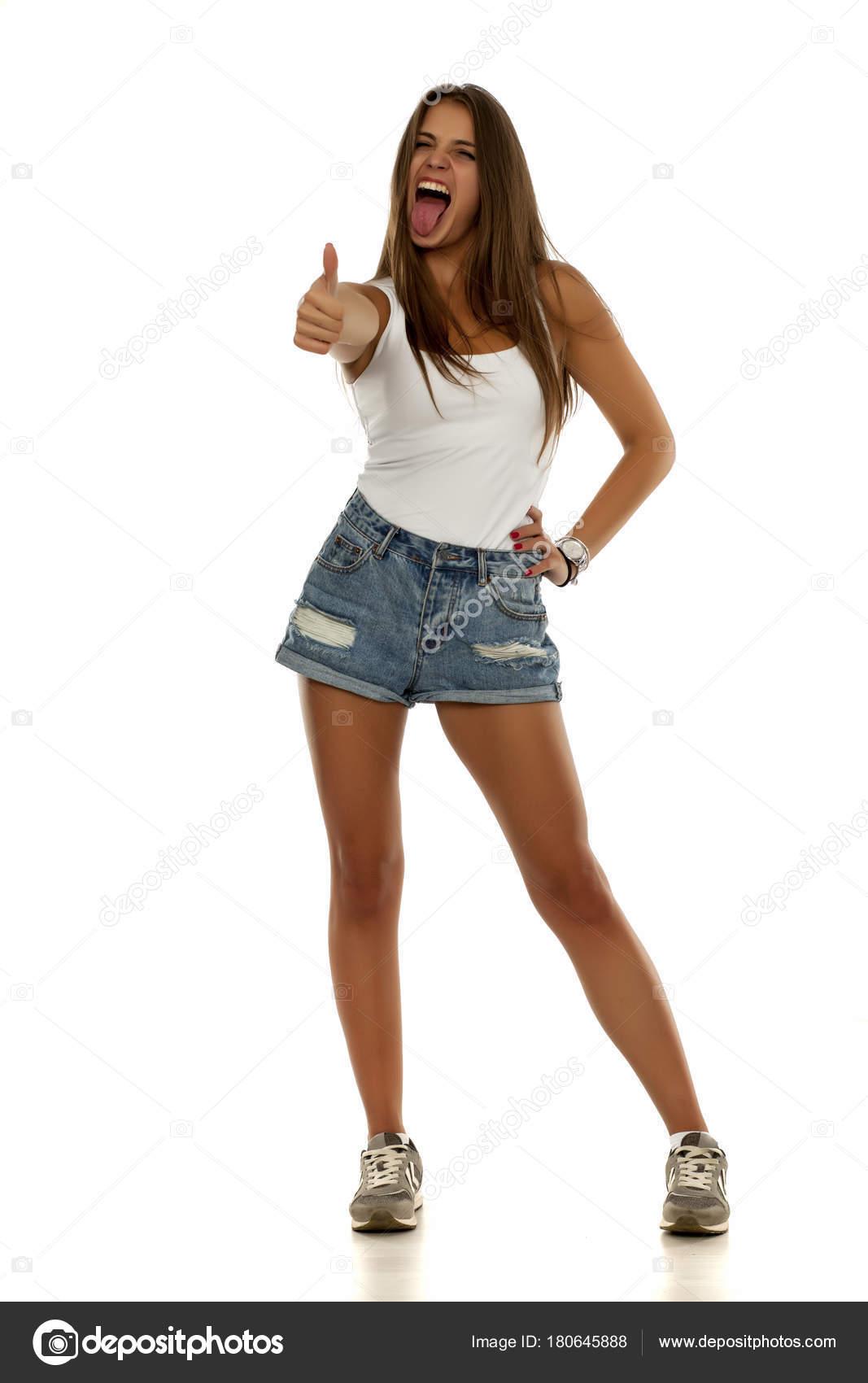 Camisa Mujer Zapatillas Jeans Deporte Mangas Joven Tonta Shorts Sin Tl3cFKu1J