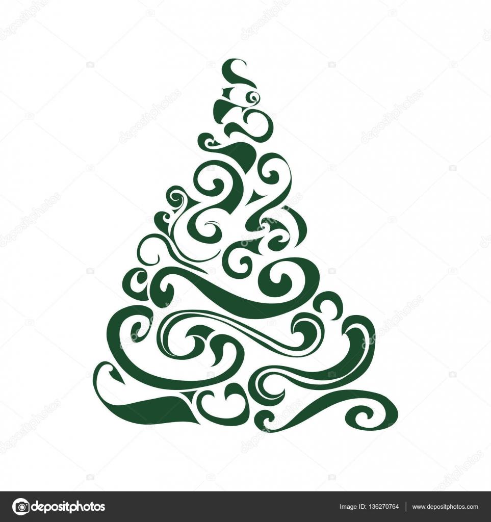 Graficzne Christmas tree — Grafika wektorowa © Likka