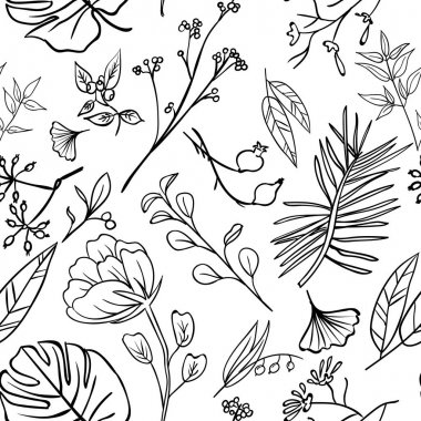 Plants and herbs pattern