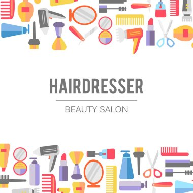 set of icons for beauty salon banner