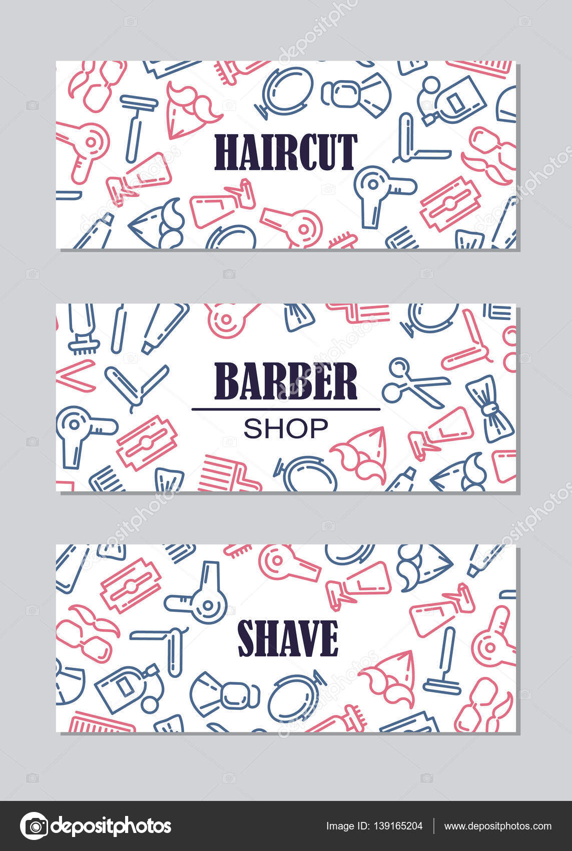 Barber shop banner plantillas — Vector de stock © vextok #139165204