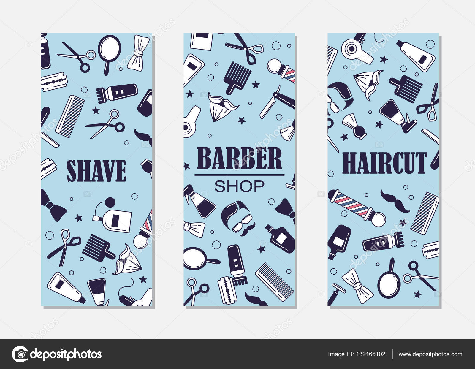 Barber shop banner plantillas — Archivo Imágenes Vectoriales ...