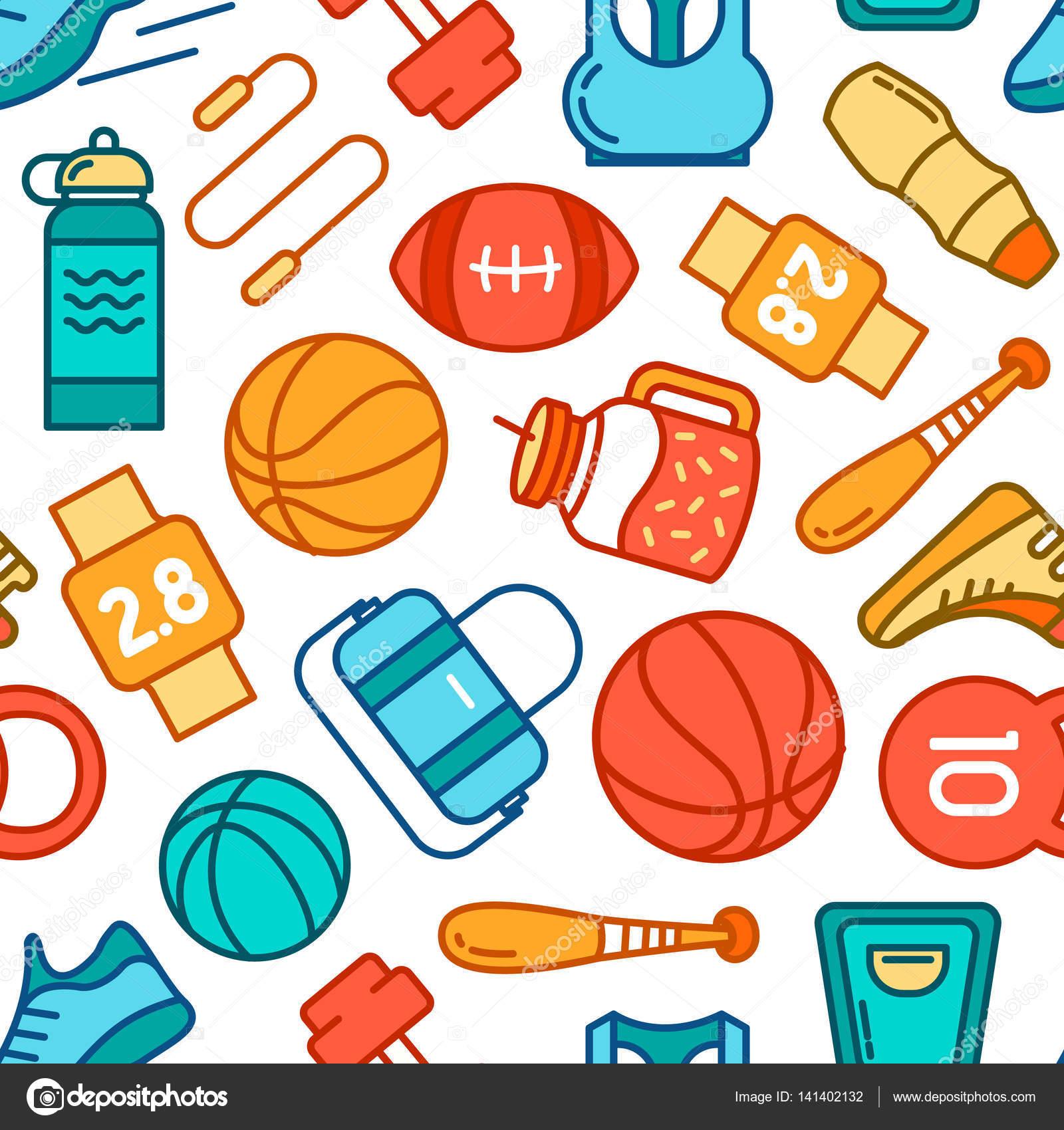 Fondo De Diapositivas Con Deporte Iconos De Deportes