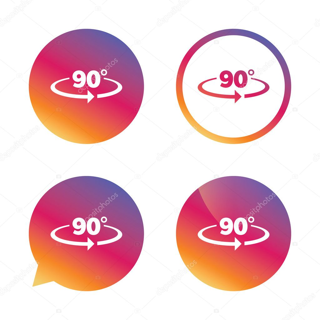 Angle 90 Degrees Sign Icon Geometry Math Symbol Stock Vector