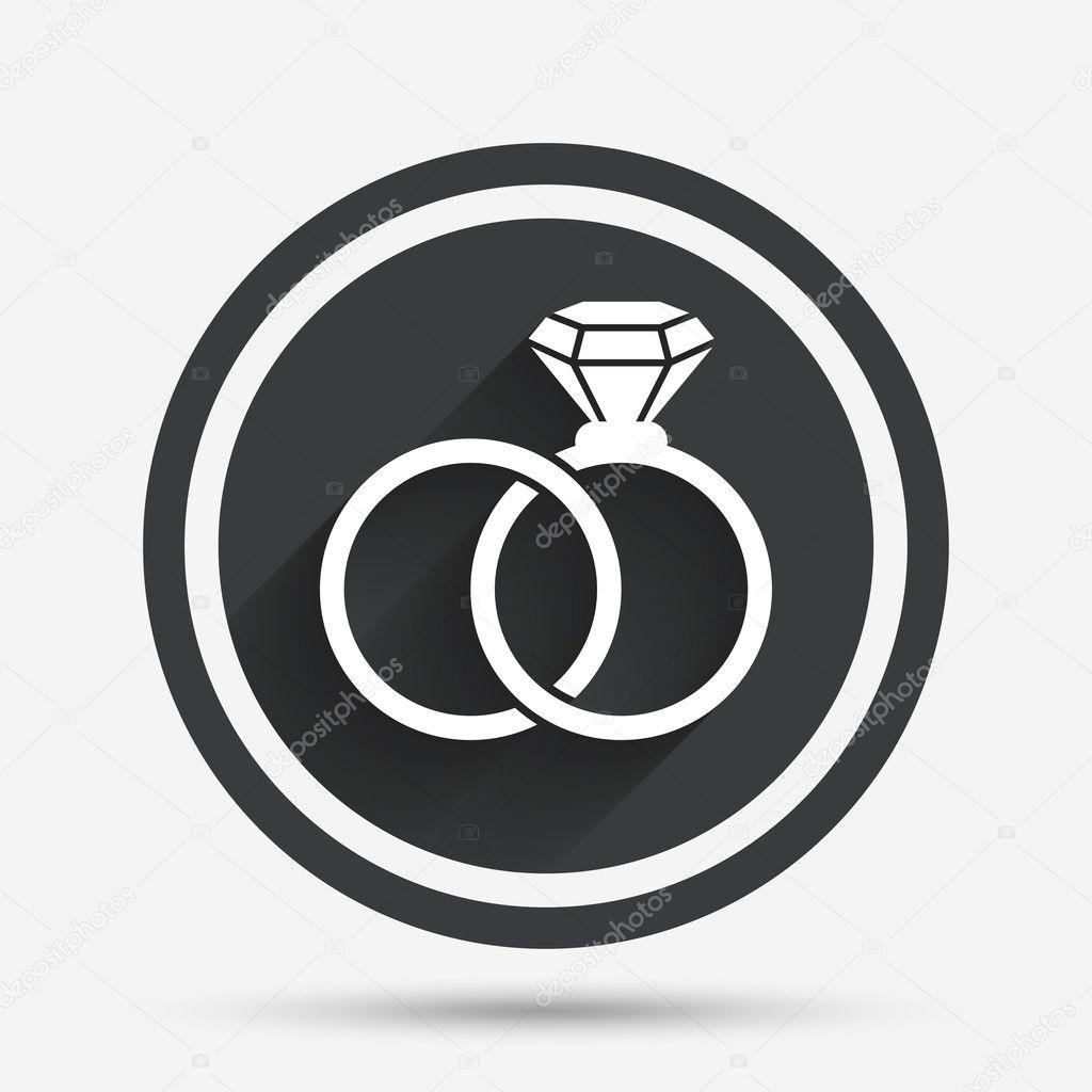 Snubni Prsteny Podepsat Ikonu Symbol Zasnoubeni Stockovy Vektor