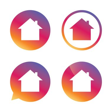 Home sign icon. Main page button. Navigation.