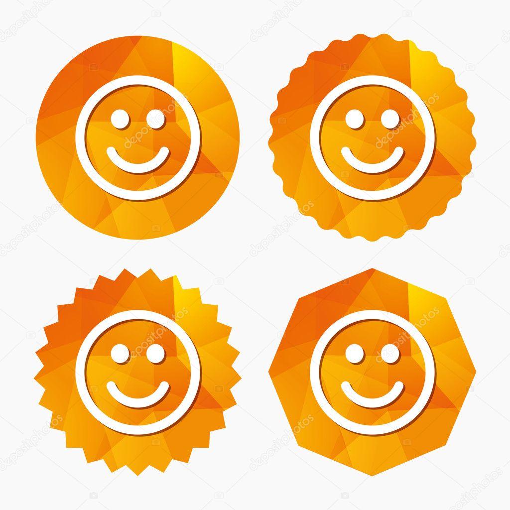 Smile Icon Happy Face Symbol Stock Vector Blankstock 125901708