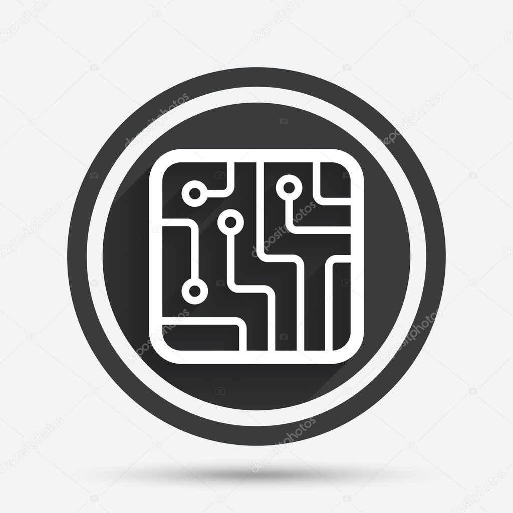 Circuit board sign icon. Technology symbol. — Stock Vector ...