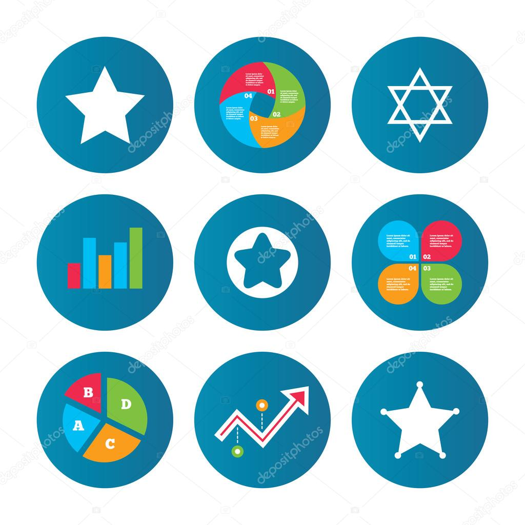 Star Of David Icons Symbol Of Israel Stock Vector Blankstock