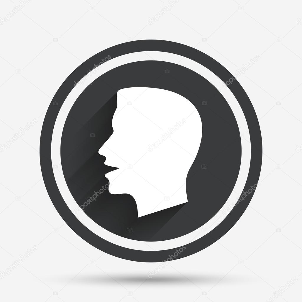 Talk Or Speak Icon Loud Noise Symbol Stock Vector Blankstock