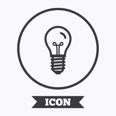 Light bulb icon. Lamp E14 screw socket symbol.