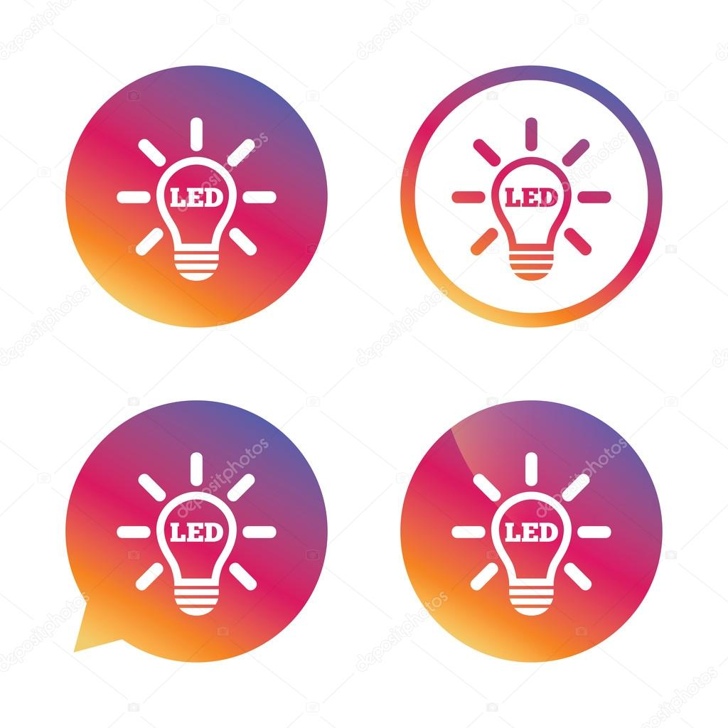 Led light lamp icon. Energy symbol. — Stock Vector © Blankstock ...