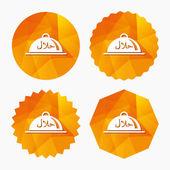 halal jídlo výrobku znamení ikona. přirozené potravy