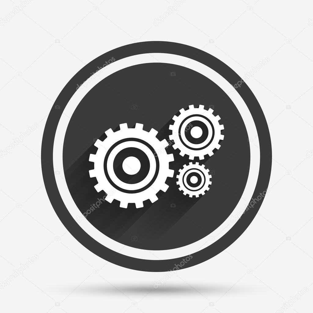 Cog settings sign icon  Cogwheel gear symbol  — Stock Vector