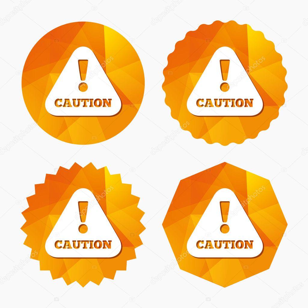 Icone di attenzione pavimento bagnato — Vettoriali Stock ...