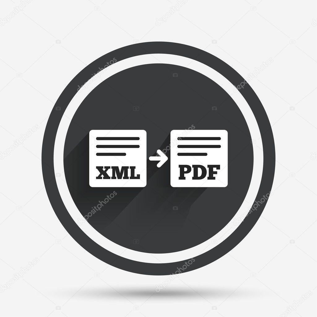 Export Xml auf Pdf-Symbol. Datei-Dokument-symbol — Stockvektor ...