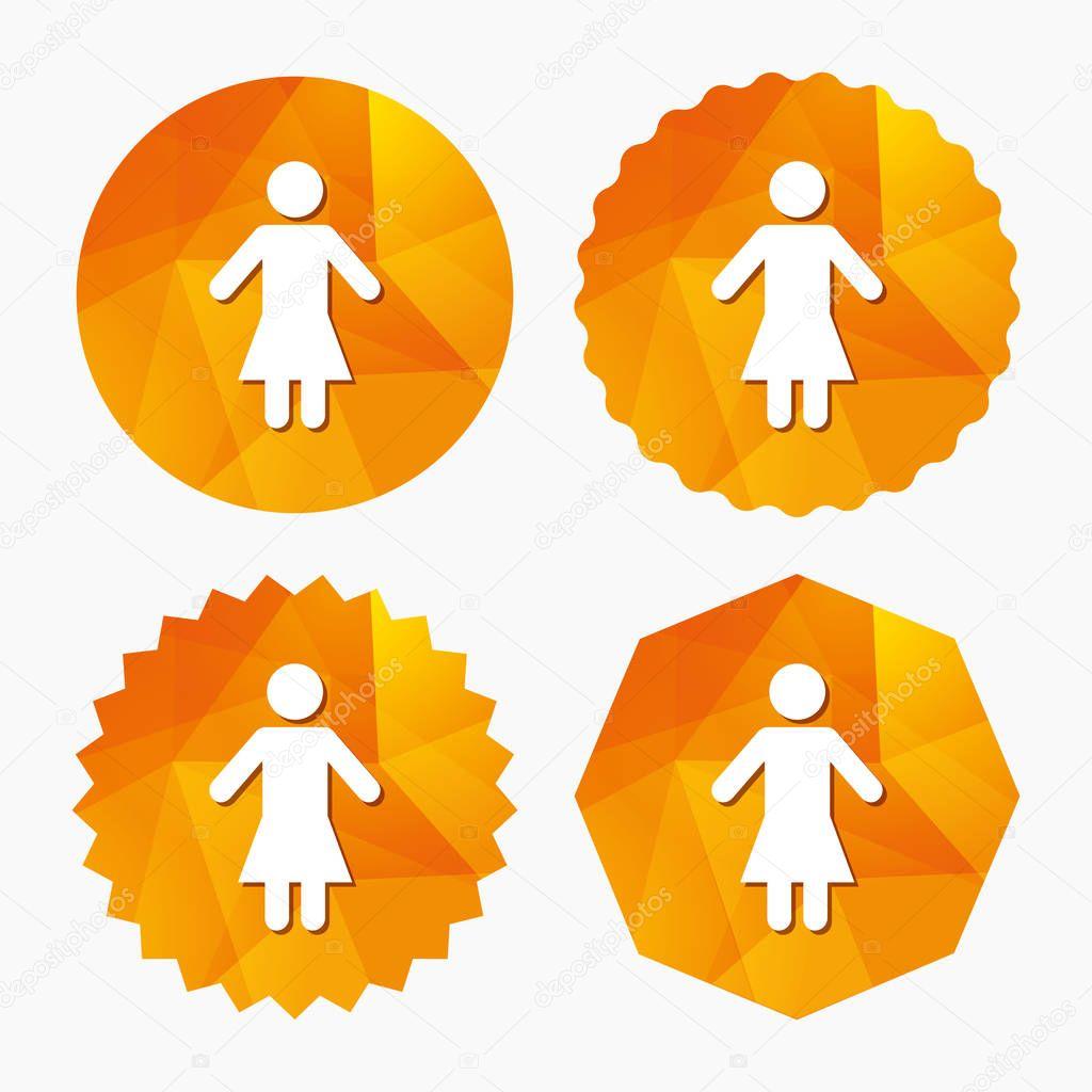 weibliche Zeichen Symbol — Stockvektor © Blankstock #128922818