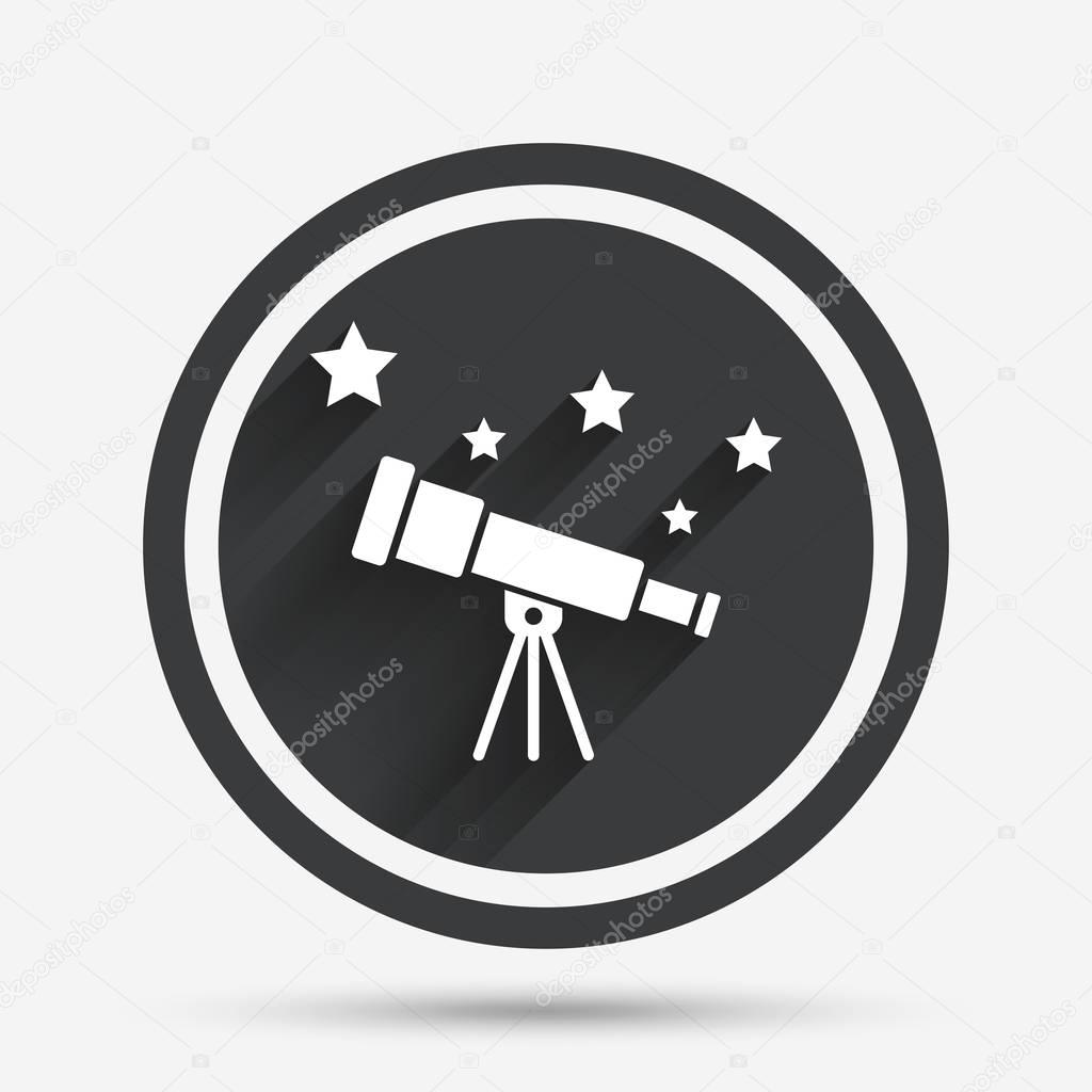telescope icon symbol stock vector c blankstock 128933644 depositphotos