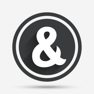 Ampersand sign icon.