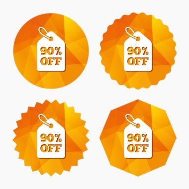 90 percent sale price tag