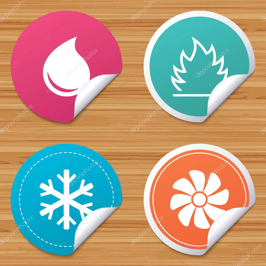 Round stickers or website banners