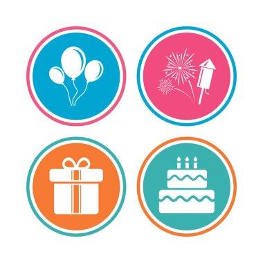Birthday party icons.