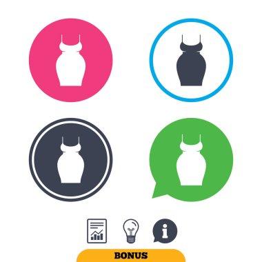 Pregnancy icons set