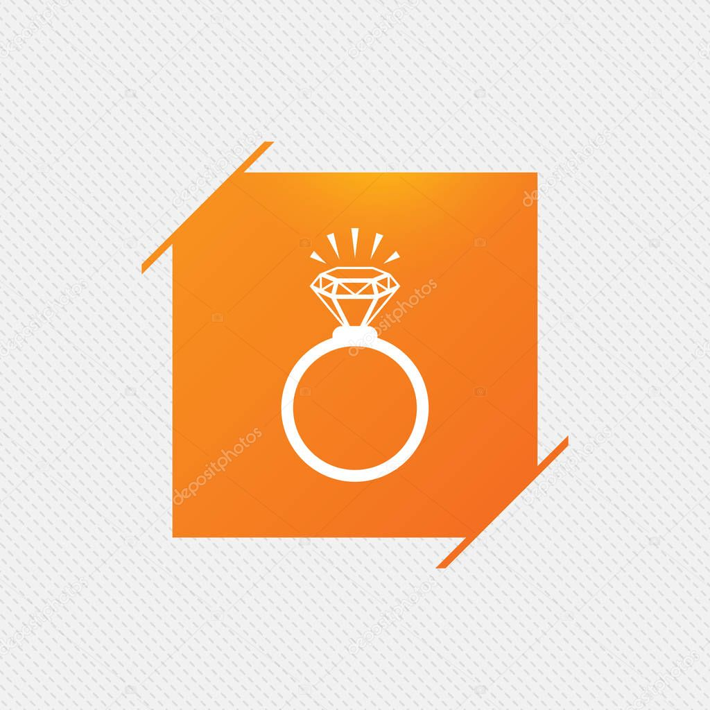 Ring sign icon