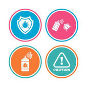 Bug disinfection icons set