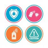 Fehler Desinfektion Icons set