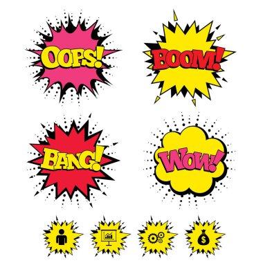 Comic Boom icons.